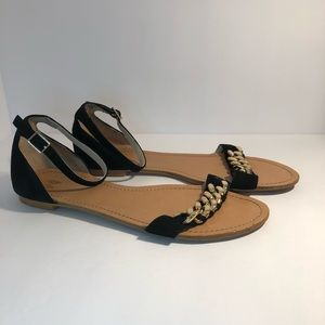 Victoria's Secret Black Ankle Strap Sandals Size 8